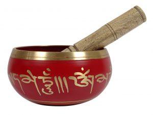 کاسه تبتی قرمز سایز 4 سیزده سانتی