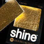 ورق سیگار پیچ طلا 24k شاین Shine سایز 1/4