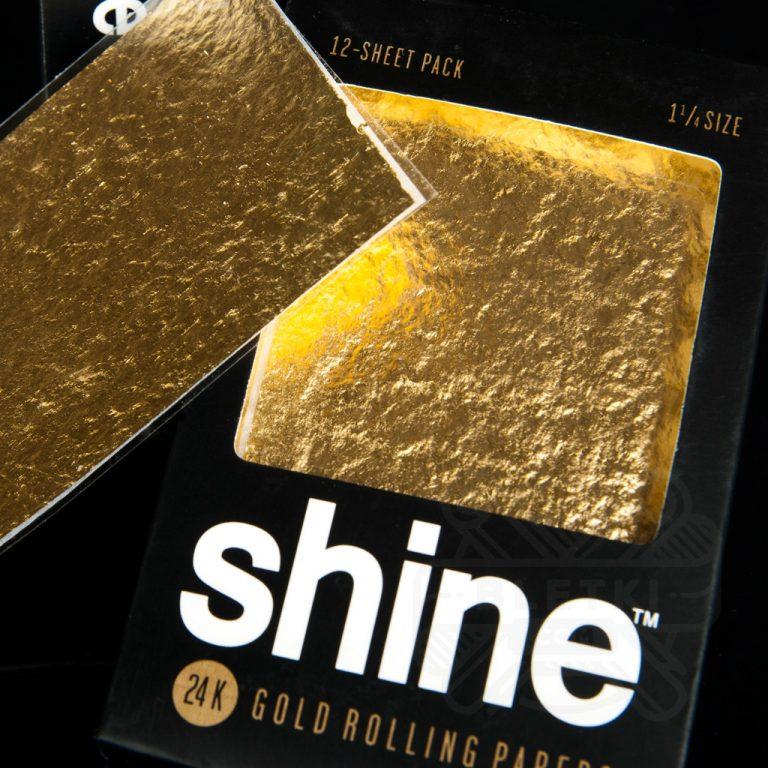 ورق سیگار پیچ طلا ۲۴k شاین Shine سایز ۱/۴