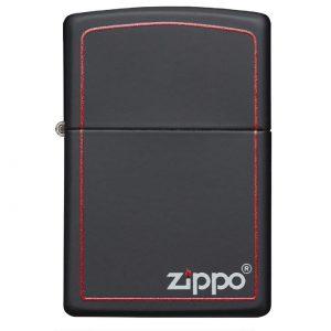 فندک زیپو Zippo مدل Reg Black/z-Brdr کد 218 ZB