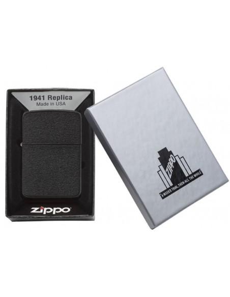 فندک سیگار زیپو Zippo مدل Replica Black Crackle کد ۲۸۵۸۲