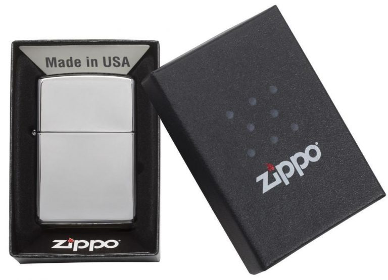فندک زیپو مدل Reg H Pol Chrome کد ۲۵۰