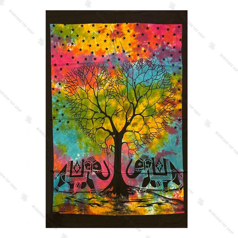 بک دراپ طرح درخت و فیل