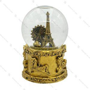 گوی برفی باتری خور پاریس طلایی