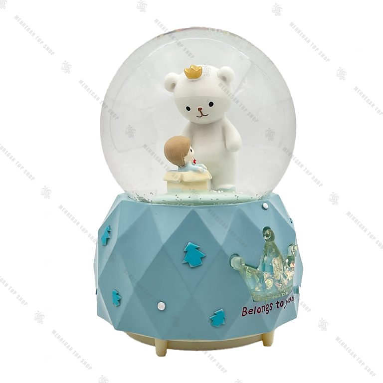 گوی برفی فول طرح خرس تاج به سر