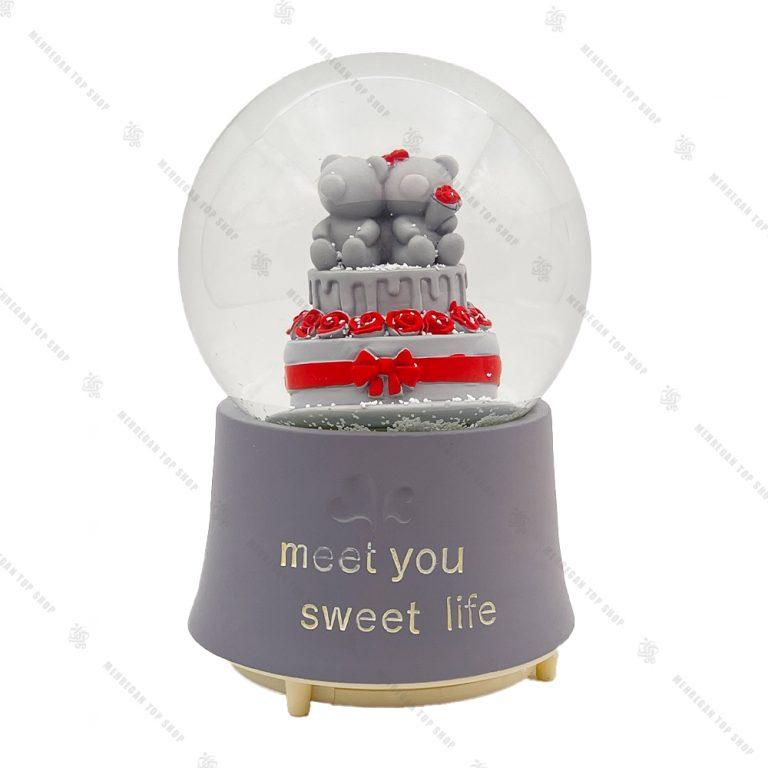 گوی برفی فول طرح کیک خرسی