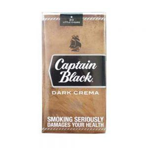 دارای 20 نخ سیگار کاپتان بلک Captain Black Dark Creamaسیگار کوچک با طعم کرم شکلات تلخ
